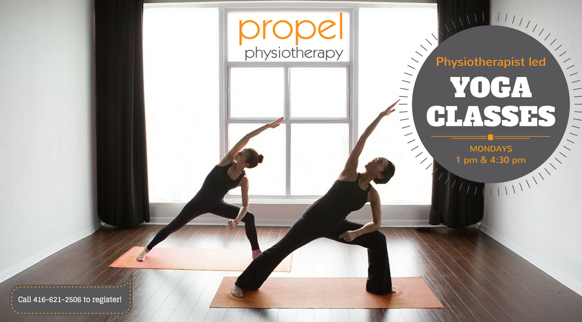 Etobicoke yoga classes led by Propel physiotherapist and certified yoga instructor Jennifer Neirinckx