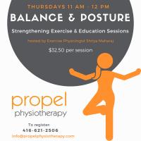 balance and posture class propel physiotherapy etobicoke