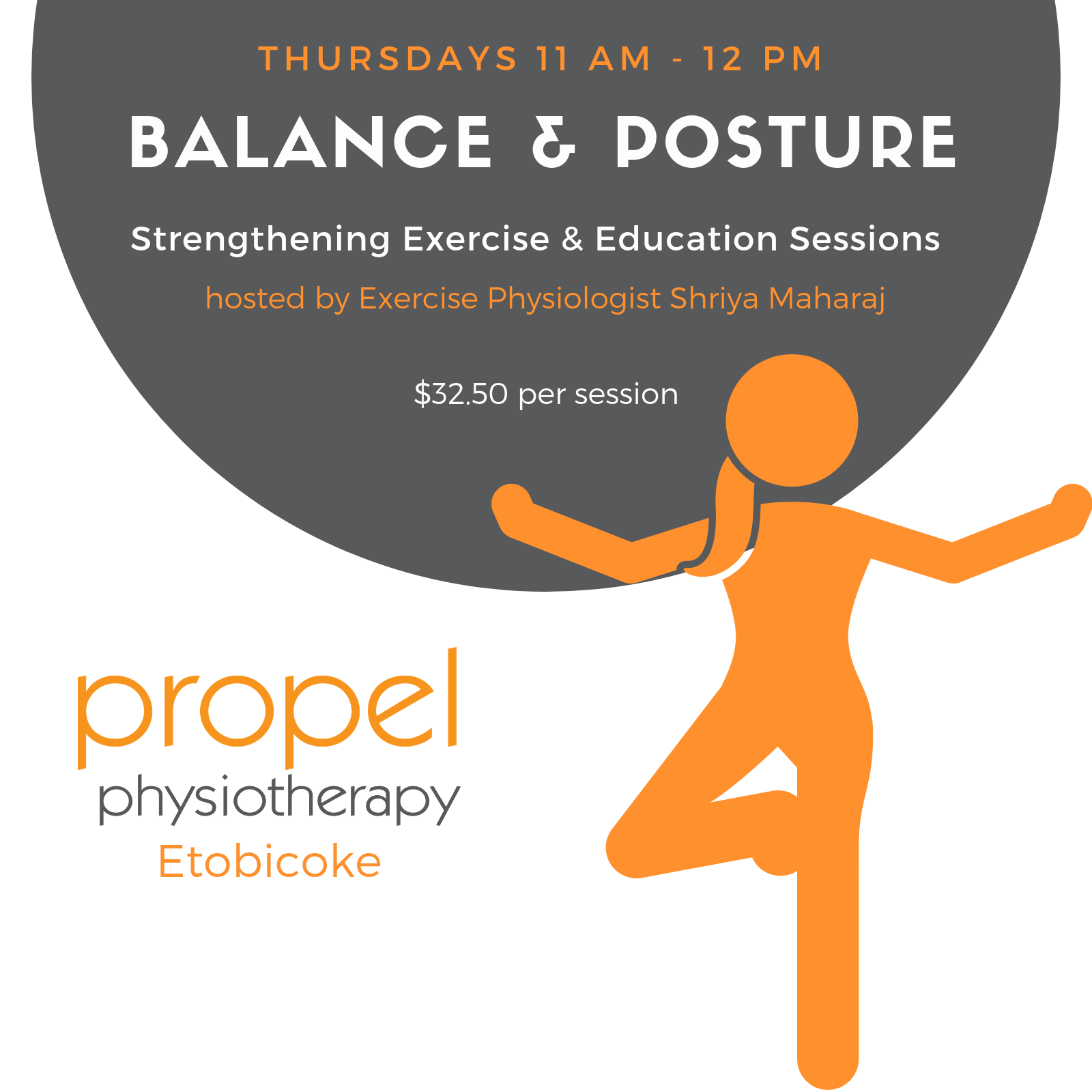 Balance and Posture Propel Physiotherapy Events Etobicoke