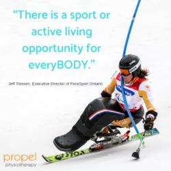 Adaptive Sports Winter Activities Propel Physiotherapy Etobicoke Clinic