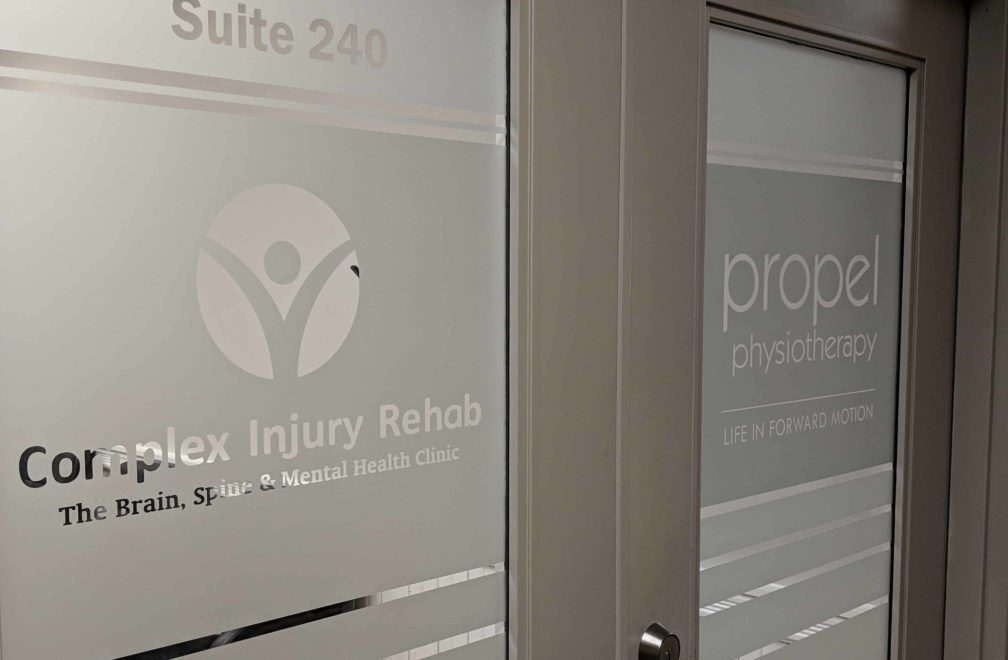 Occupational and physical therapy maximize outcomes Propel Physiotherapy Pickering entrance doors