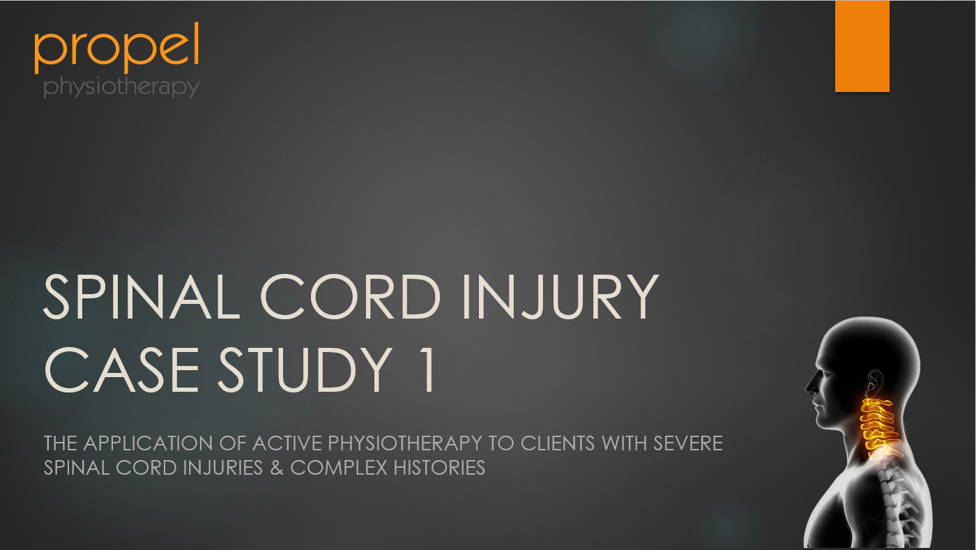severe spinal cord injury SCI case study cover image