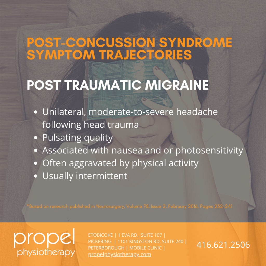 post traumatic migraine persistent concussion symptoms post concussion syndrome propel physiotherapy