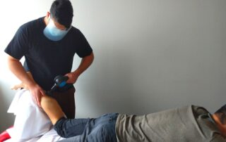 percussive therapy vibration therapy massage therapy Propel Physiotherapy
