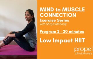 low impact HIIT program video written plan Propel Physiotherapy